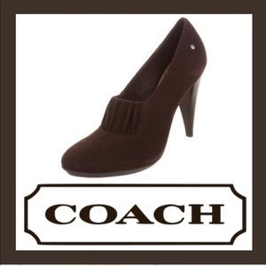 COACH Adra Chocolate suede pumps